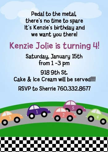 And Now For Some Wheel FunRace Car Party Invitations Youll