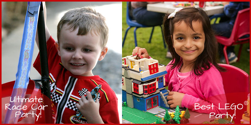 lego parties and race car parties