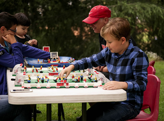 Include Lego games at your child's birthday party!