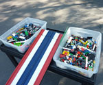 LEGO car building station rental